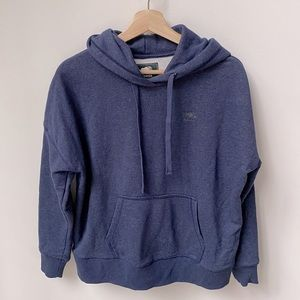 Roots Navy Blue Small Logo Hoodie Size XS